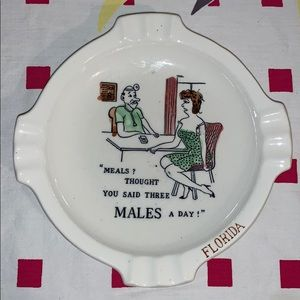 Vintage Lewd Humor Ashtray